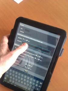 App mobile sur Tablette