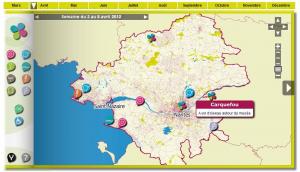 Cartographie web du carnet de balades d'Ecopole